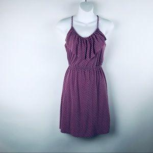 Mossimo striped pink N gray spaghetti strap dress